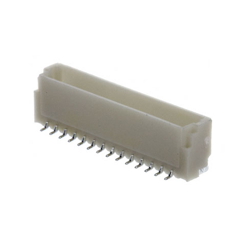 14-PIN (1MM) SHROUDED HEADER, SURFACE MOUNT