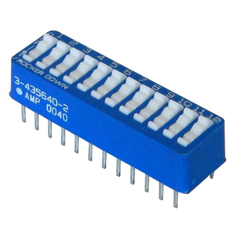 12 POSITION DIP SWITCH