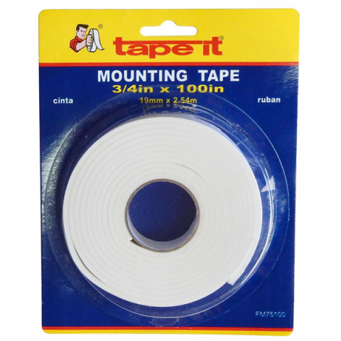 "DOUBLE-SIDED TAPE, 3/4"" X 100"""