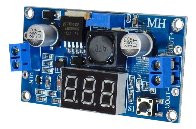 STEP-DOWN DC REGULATOR W/ DIGITAL METER
