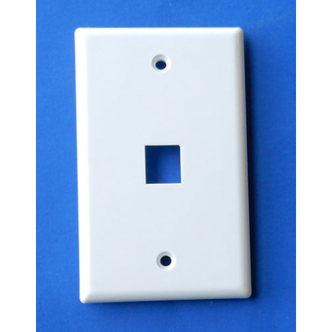 WALL PLATE FOR KEYSONE JACK, WHITE