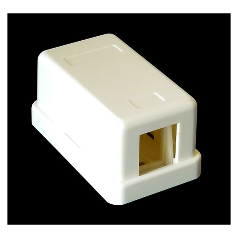 1-PORT SURFACE MOUNT BOX FOR KEYSTONE JACK, WHITE