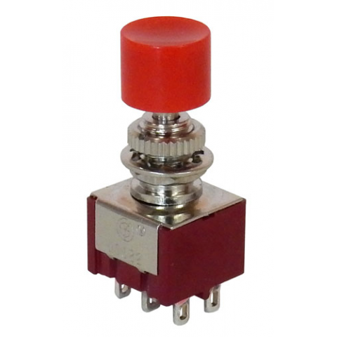 MINI DPDT PUSH-ON / PUSH-OFF SWITCH