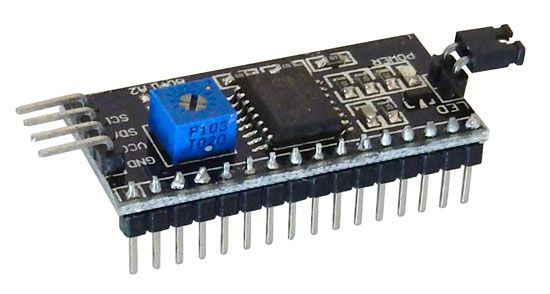 SERIAL INTERFACE MODULE FOR 16 X 2 LCDS
