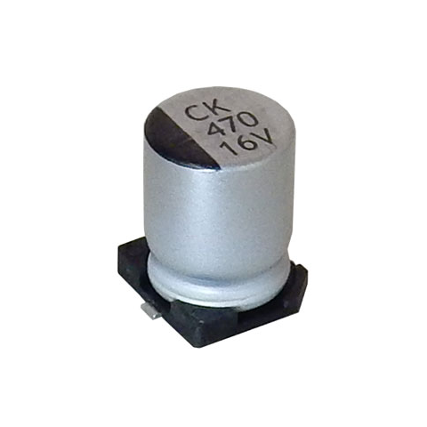 470 UF, 16V ELECTROLYTIC CAPACITOR, SURFACE-MOUNT