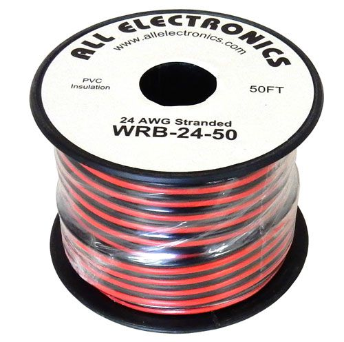 24 AWG RED/BLACK AUTO ZIP CORD