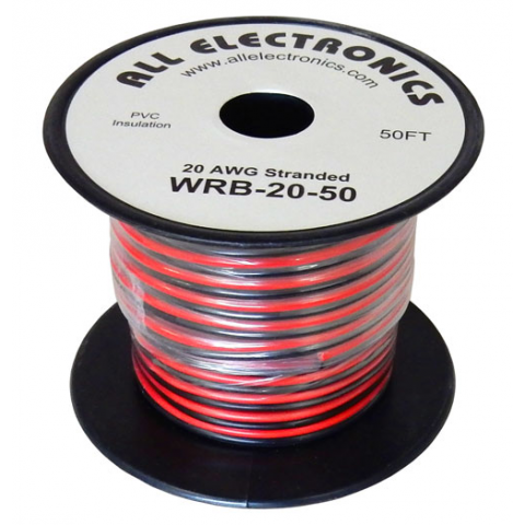 20 AWG RED/BLACK AUTO ZIP CORD