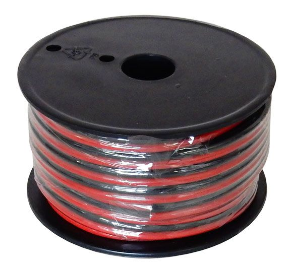 12 AWG RED/BLACK ZIP WIRE