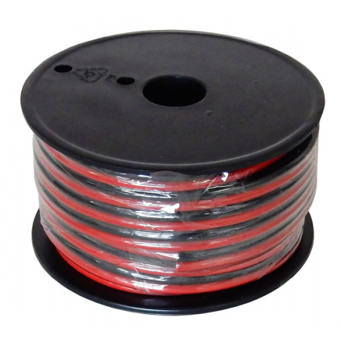 12 AWG RED/BLACK ZIP WIRE | All Electronics Corp.