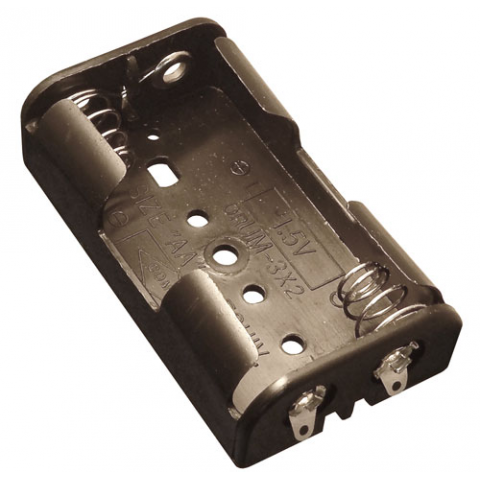 2 AA BATTERY HOLDER