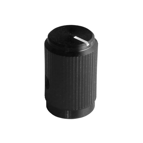 "1/2"" ALUMINUM KNOB FOR 1/4"" SHAFT"