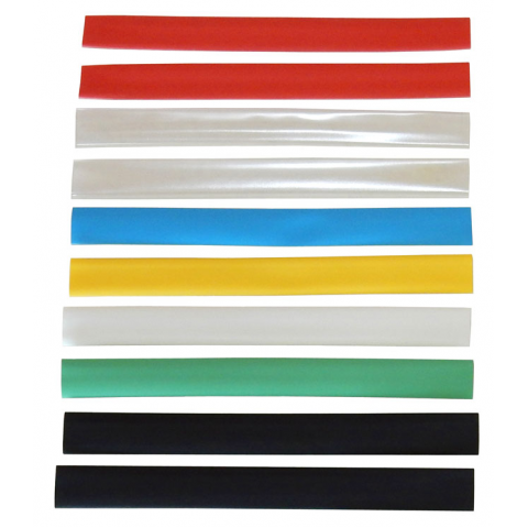 "3/8"" HEAT SHRINK, ASSORTED COLORS"