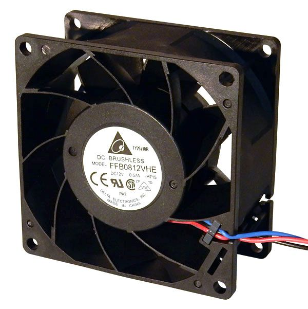 12VDC 80MM COOLING FAN, DELTA FFB0812VHE | All Electronics Corp