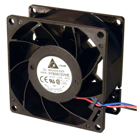 12VDC 80MM COOLING FAN, DELTA FFB0812VHE
