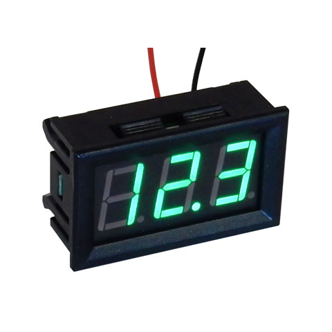 3.3-30 VDC GREEN DIGITAL METER