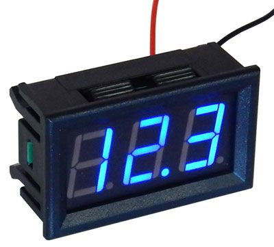 4-150 VDC BLUE DIGITAL PANEL METER