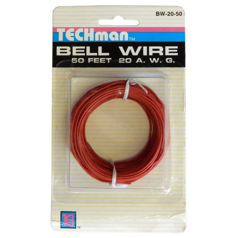 20 GA RED HOOK-UP WIRE, SOLID 50'
