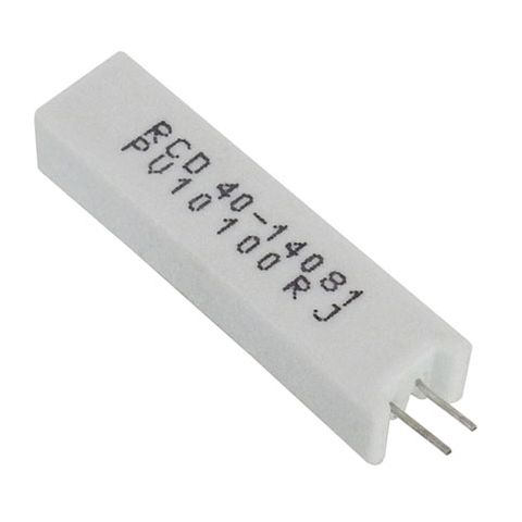 100 OHM 10W 5% VERTICAL WIRE WOUND RESISTOR