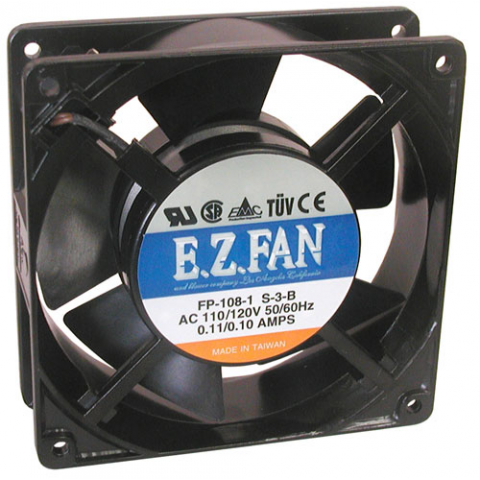 120 VAC 120 MM COOLING FAN, BALL-BEARINGS