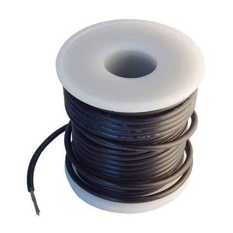18 AWG STRANDED WIRE, 35' BLACK
