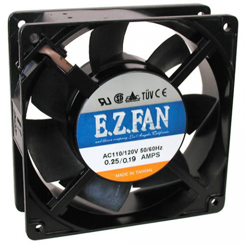 120 VAC 120MM COOLING FAN, SLEEVE-BEARING