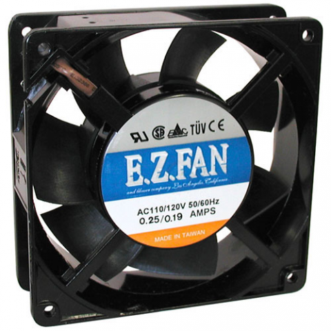 120 VAC 120MM COOLING FAN, BALL-BEARING