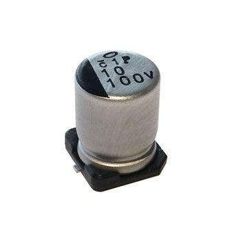 10UF 100V SURFACE-MOUNT ELECTROLYTIC CAPACITOR