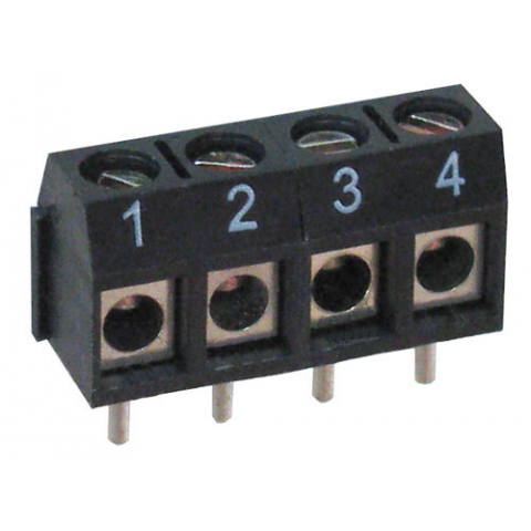 4-POSITION PC MOUNT TERMINAL STRIP, NUMBERED 1-4