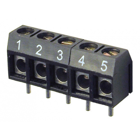 5-POSITION PC MOUNT TERMINAL STRIP, NUMBERED 1-5