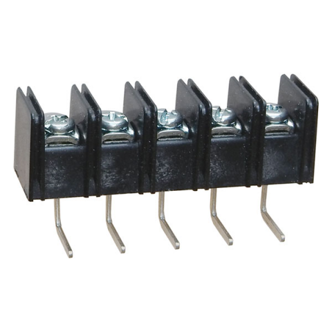 5-POSITION SINGLE-ROW TERMINAL STRIP, PC MOUNT