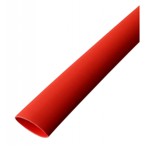 "1/2"" DIA RED DUAL WALL HEAT SHRINK TUBING, 4'"