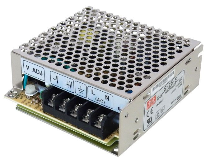 5VDC 5 AMP 25W POWER SUPPLY