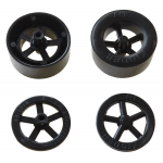 PLASTIC RACE CAR WHEEL SET