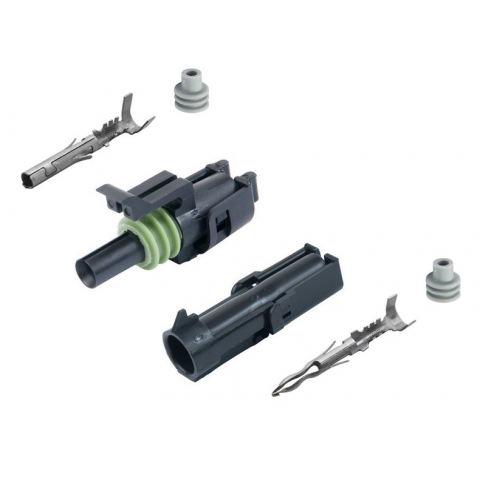 1-CONDUCTOR WEATHER PACK CONNECTOR KIT, 16-14