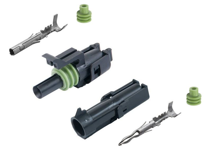 1-CONDUCTOR WEATHER PACK CONNECTOR KIT, 20-18