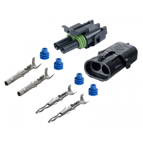 2-CONDUCTOR WEATHER PACK CONNECTOR KIT, 12-10 GA