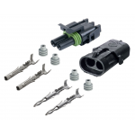 2-CONDUCTOR WEATHER PACK CONNECTOR KIT, 16-14 GA