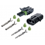2-CONDUCTOR WEATHER PACK CONNECTOR KIT, 20-18