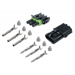 3-CONDUCTOR WEATHER PACK CONNECTOR KIT, 16-14 GA