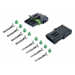 4-CONDUCTOR WEATHER PACK CONNECTOR KIT, 18-16 GA