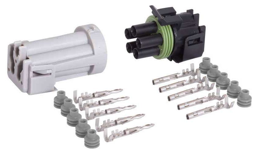 5-CONDUCTOR WEATHER PACK CONNECTOR KIT, 16-14 GA