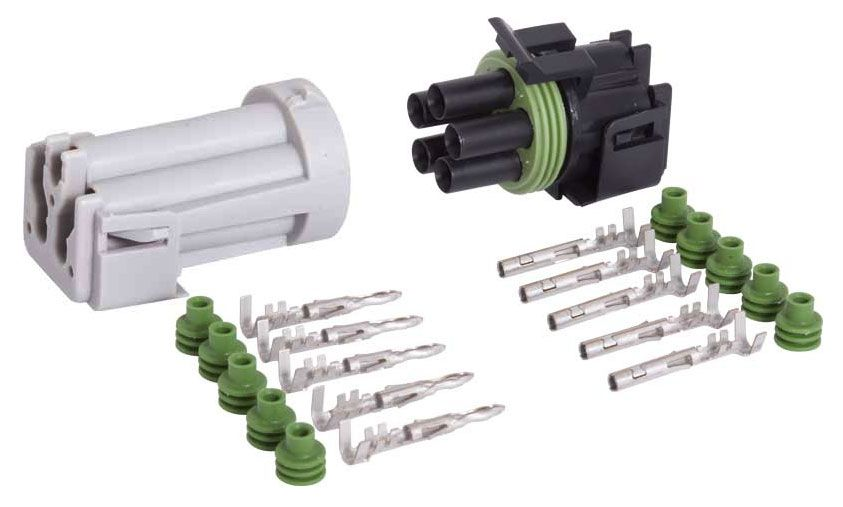 5-CONDUCTOR WEATHER PACK CONNECTOR KIT, 18-16 GA