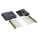 6-CONDUCTOR WEATHER PACK CONNECTOR KIT, 18-16 GA