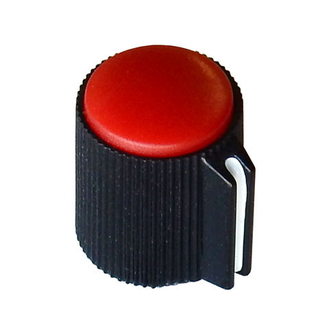 "POINTER KNOB FOR 1/8"" (3.2MM) SHAFT, RED FACE"
