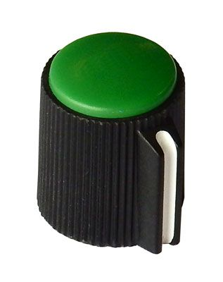 "POINTER KNOB FOR 1/8"" (3.2MM) SHAFT, GREEN FACE"