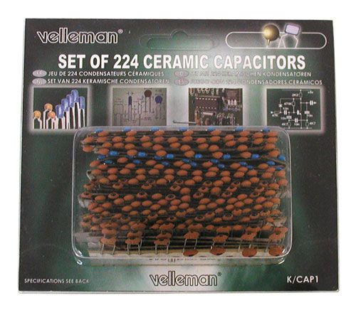 224pc Ceramic Capacitor Set 14 Values All Electronics Corp