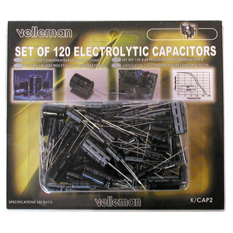 120 PC ELECTROLYTIC CAP SET 10 VALUES 1UF-1000UF