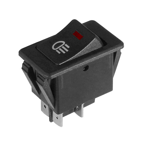 2-POLE ON-OFF LIGHTED ROCKER SWITCH