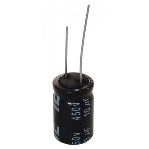 10 UF 450V RADIAL, 105C ELECTROLYTIC CAPACITOR