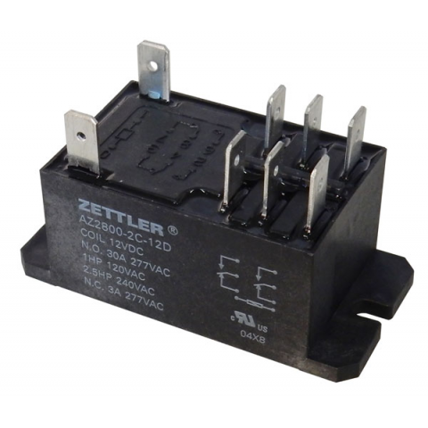 12VDC DPDT 30A POWER RELAY